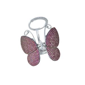 Inel argint zirconiu fluture -  11