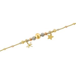 Bratara aur 14K zirconiu accesorii mixte
