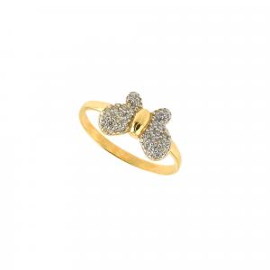 Inel aur 14K fluture