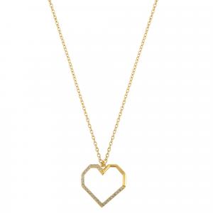 Lant aur 14k zirconiu elegant inima