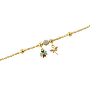 Bratara aur 14k zirconiu accesorii mixte copii
