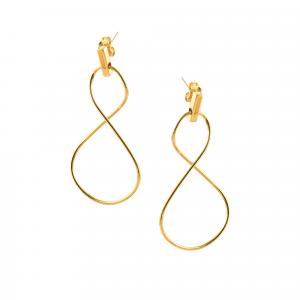 Cercei aur 14K Arpas galben  abstract