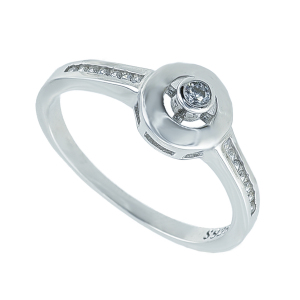 Inel argint zirconiu clasic