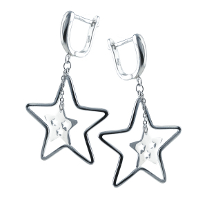 Cercei argint Star