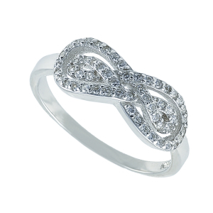 Inel argint zirconiu elegant