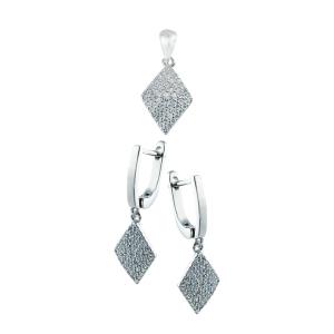Set argint zirconiu elegant