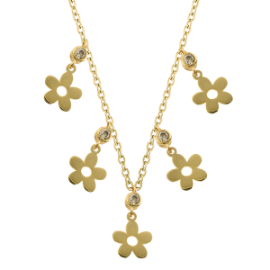 Lant aur 14K elegant floare