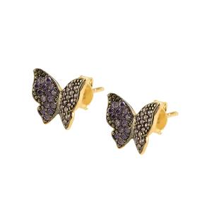 Cercei aur 14k fluture