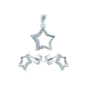 Set argint zirconiu stea