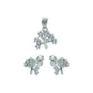 Set argint zirconiu copac