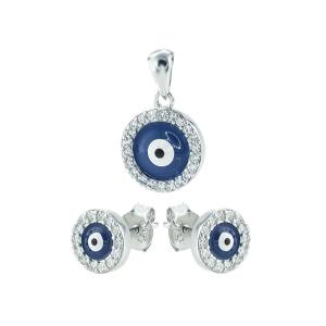 Set argint zirconiu ochi de deochi