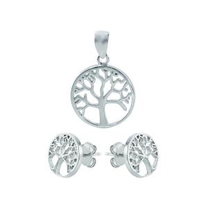 Set argint copacul vietii