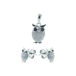 Set argint zirconiu bufnita