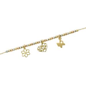 Bratara aur 14k accesorii mixte