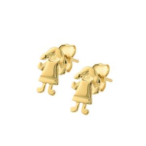 Cercei aur 14K fetita