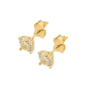 Cercei aur 14K zirconiu