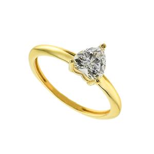 Inel aur 14K zirconiu logodna