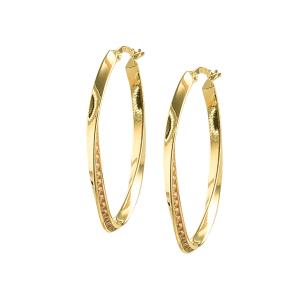 Cercei aur 14k oval