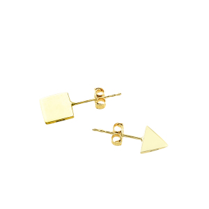 Cercei aur 14K abstract