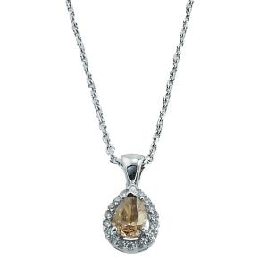 Lant aur 18K cu diamante 0.27 H VSSI