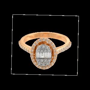 Inel aur 18K cu diamante 0.59 G VSSI