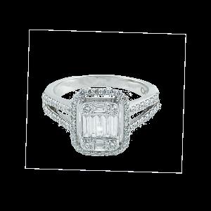 Inel aur 18K cu diamante 0.9 G VS