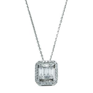 Lant aur 18K cu diamante 0.45 G VSSI