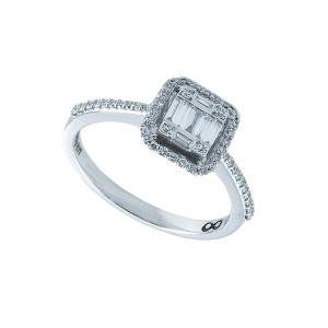 Inel aur 18K cu diamante 0.33 G VSSI