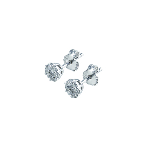 Cercei aur 18K cu diamante 0.39 G-H SI
