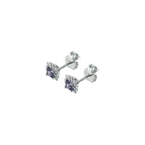 Cercei aur 18K cu diamant 0.15 F-G SI
