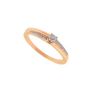 Inel aur 18K cu diamante 0.17 F SI