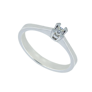 Inel logoda aur 18K cu diamant 0.1 G SI