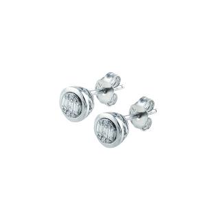 Cercei aur 18K cu diamante 0.2 F-G VSSI