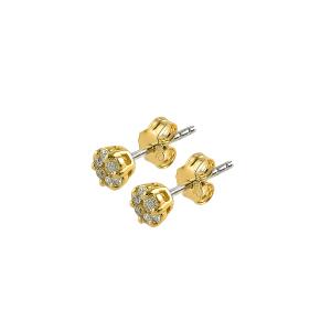 Cercei aur 18K cu diamant 0.35 F-G SI