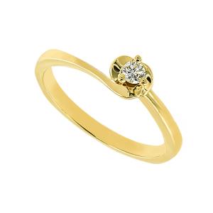 Inel logodna aur 18K cu diamant 0.09 G SI