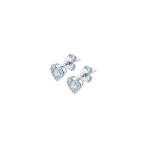 Cercei aur 18K cu diamante 0.36 E-F SI