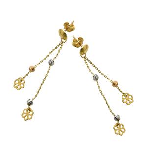 Cercei aur 14k floare