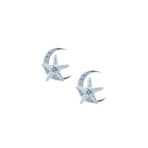 Cercei argint zirconiu luna