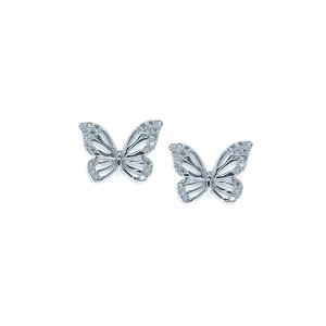 Cercei argint zirconiu fluture