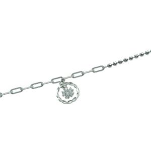 Bratara argint zirconiu floare