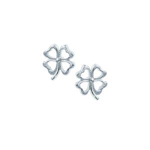 Cercei argint  trifoi