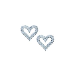 Cercei argint zirconiu inima