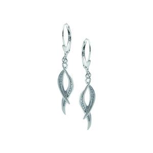 Cercei argint zirconiu elegant