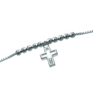 Bratara argint zirconiu cruce