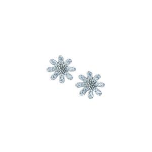 Cercei argint zirconiu floare