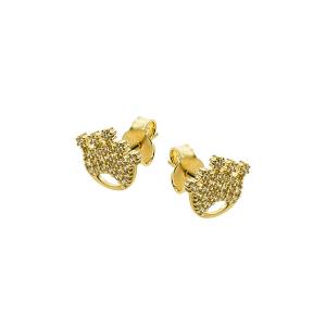 Cercei aur 14K coroana