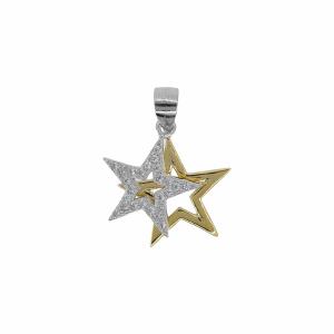 Pandantiv argint stea pietre zirconiu - 637928