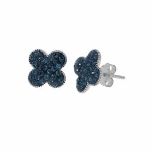 Cercei argint zirconiu floare - 635931