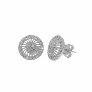 Cercei argint pietre zirconiu - 638048
