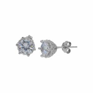 Cercei argint pietre zirconiu - 637157